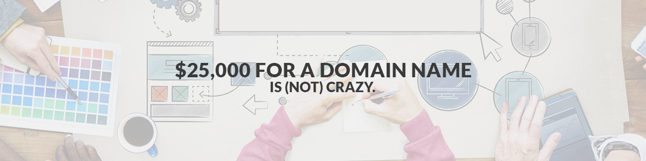 $25,000 for a Domain Name is (not) Crazy.