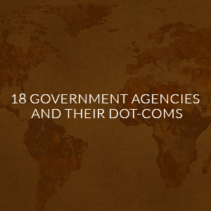 18 government agency domains