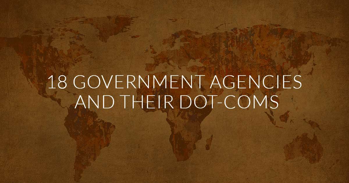 18 government agency domain names